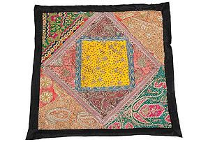 Antique Indian embroidered sham