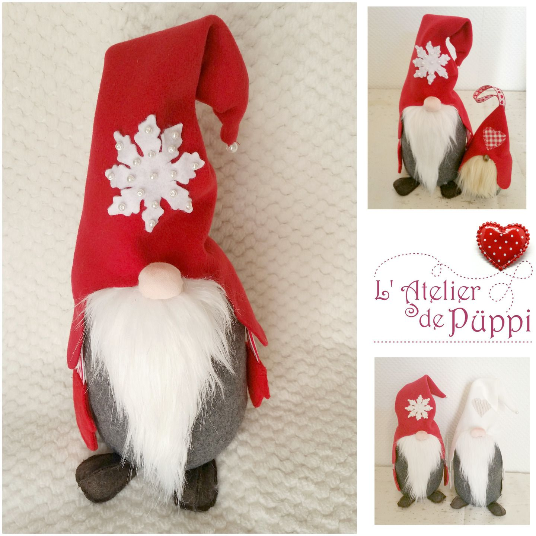 no l d coration de no l scandinave gnome elfe lutin grand rougecadeau d coration de table de. Black Bedroom Furniture Sets. Home Design Ideas