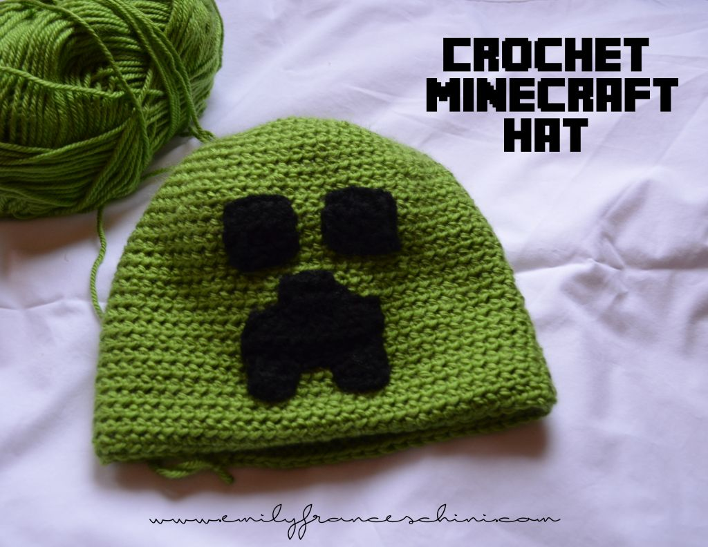 Crochet Minecraft Hat Pattern