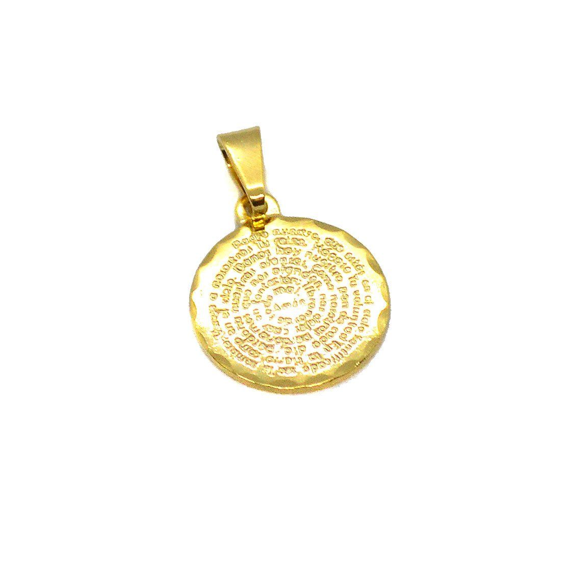 H gold overlay padre nuestro our father charm mm new