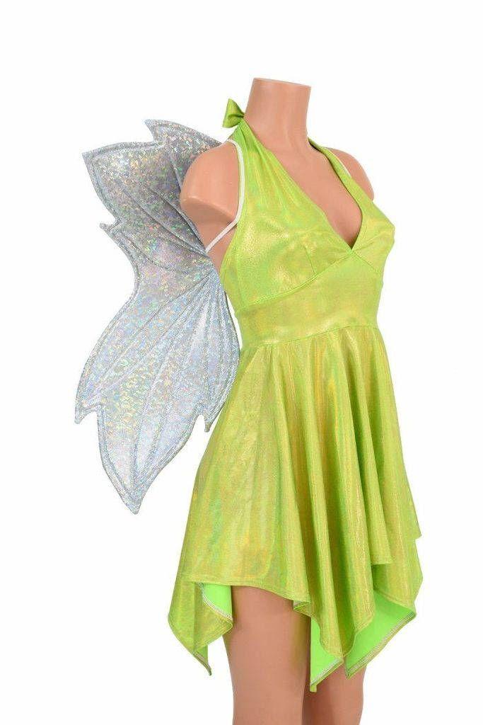 Neon Green Halter Dress
