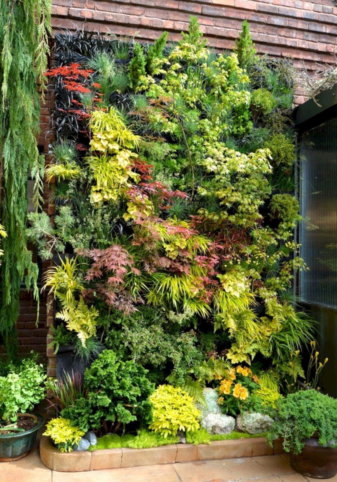 beautiful minimalist vertical garden for your home backyard