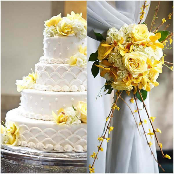 Yellow white wedding cake marry it pinterest yellow white yellow white wedding cake junglespirit Gallery
