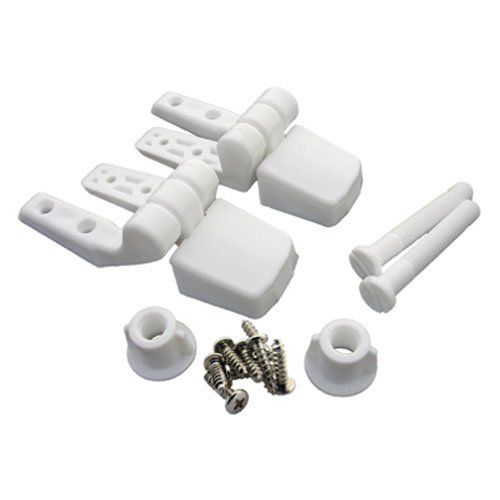Lasco 14 1039 White Plastic Toilet Seat Hinge With Bolts And Nuts Top Tightening Fits Bemis Brand You C Toilet Seat Hinges White Toilet Seats Toilet Seat