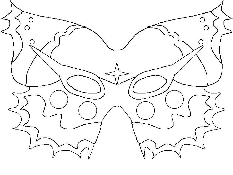 Enfants masque carnaval masque masques - Coloriage masque halloween imprimer ...