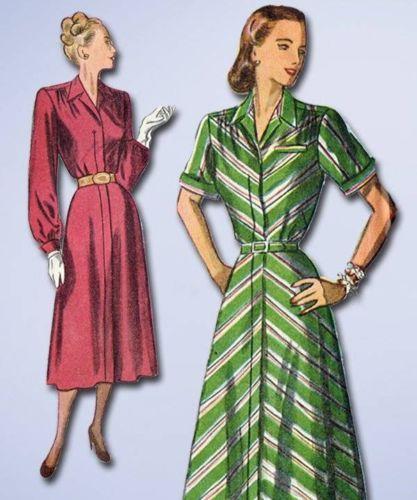 1940s Original Charming Unused Day Dress Pattern Sz 37 B | eBay