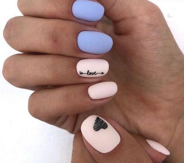 easy valentine day nail art