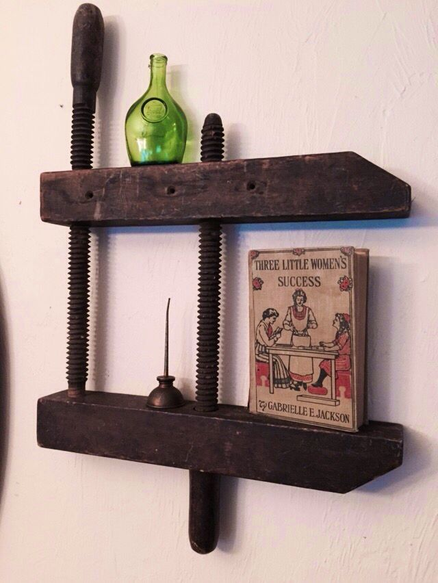 Vintage Wood Clamp Makes An Excellent Wall Shelf Vintage