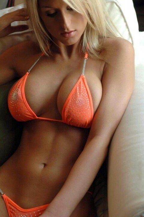 Orange bikini blonde