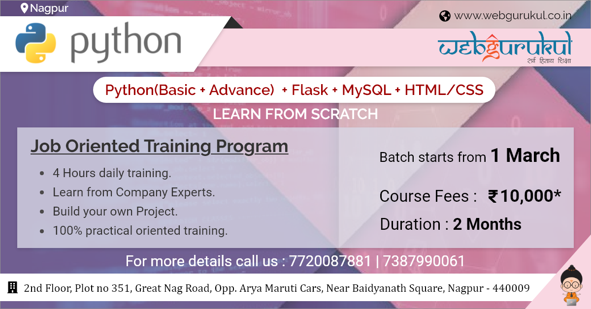 Python Training Course And Certification In 2020 Web Design Course Web Design Class Web Development Course