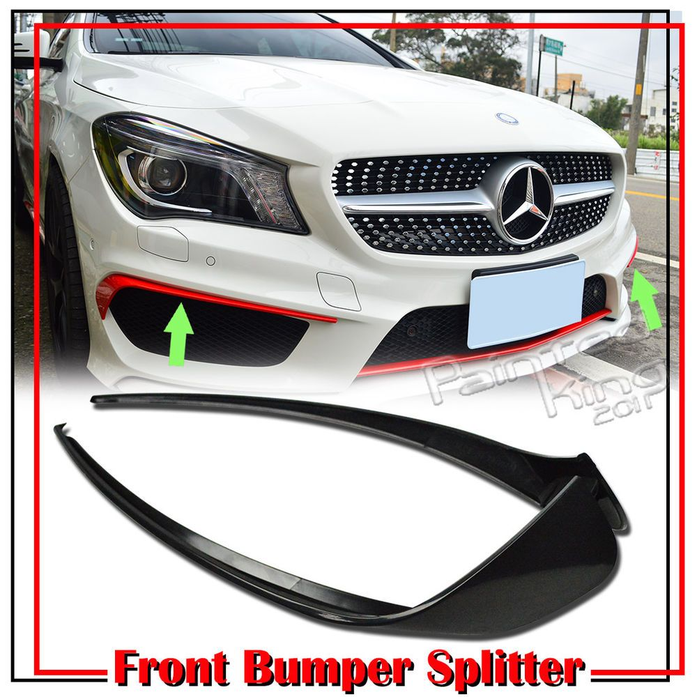 Painted Black Rear Bumper Canards Vent Flaps For Mercedes Benz W117 CLA250 CLA45