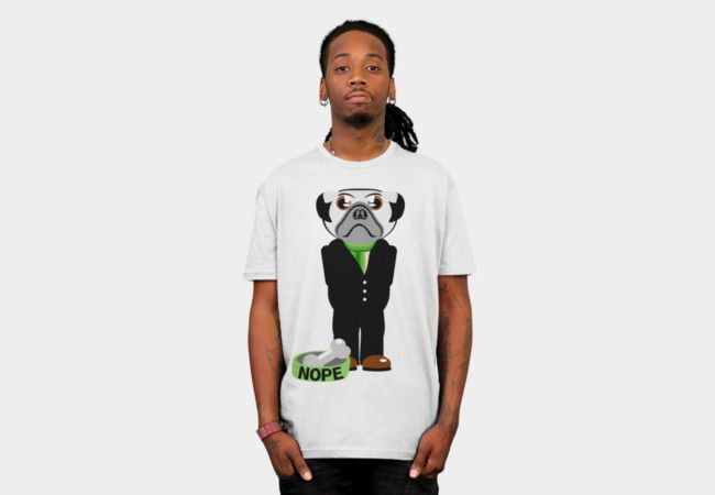 b47981f1 Pug Nope T-Shirt - Design By Humans | Design by Humans Shirts ...