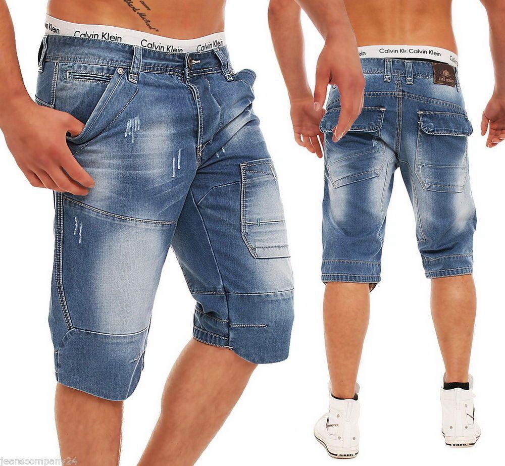 7724081f637b6 TMK Tomahawk.SL Jeans Short Bermuda Hose Vintage Denim Style,kurze ...