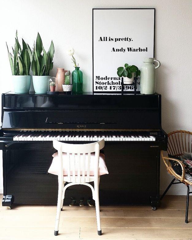 Photo of Soggiorno: stile del pianoforte di at {fijn in huis}   at {mine}
