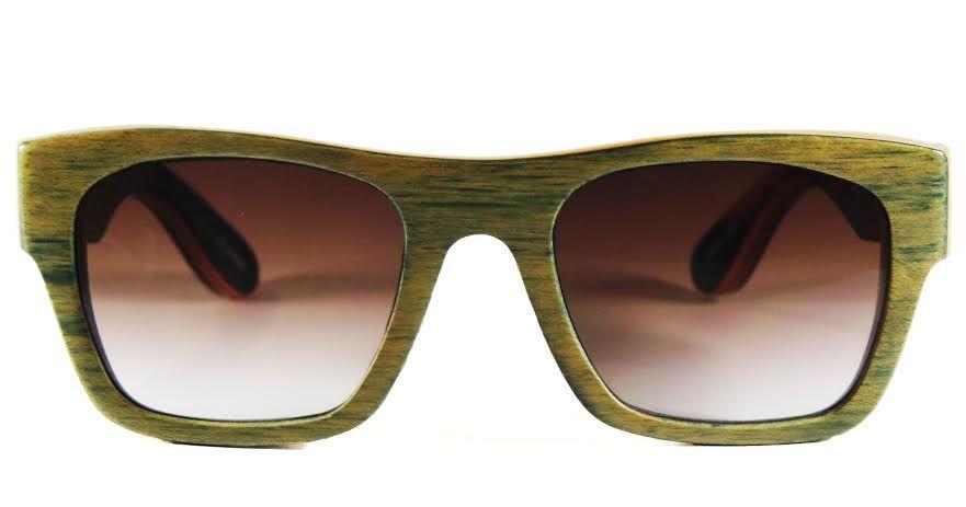 d181d81a3 Evoke Wood Series 2 em Maple cor Blue, lentes marrom degradê em  policarbonato Carl Zeiss Vision!