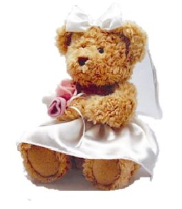 bridesmaid or flower girl personalised teddy gift table