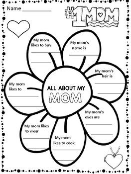 Mother S Day Writing Activities 61 Pages Bonus 15 Pages Added On