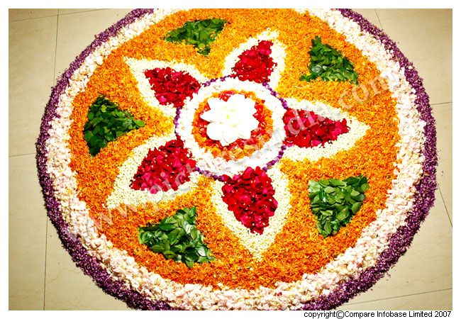 rangoli with flowers ideal for wedding garba indian