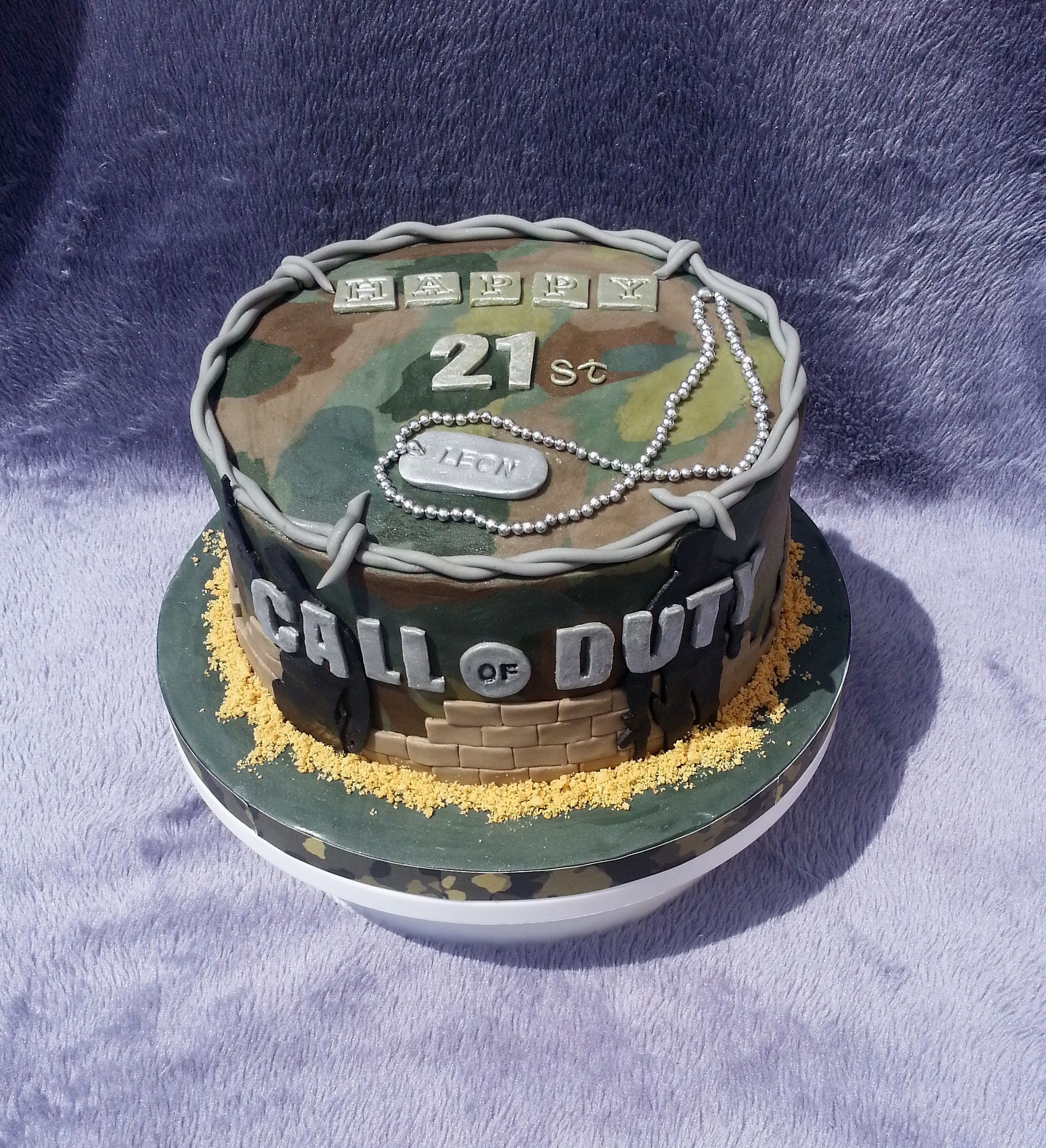 Call of Duty Cake Call of duty cakes, Army birthday