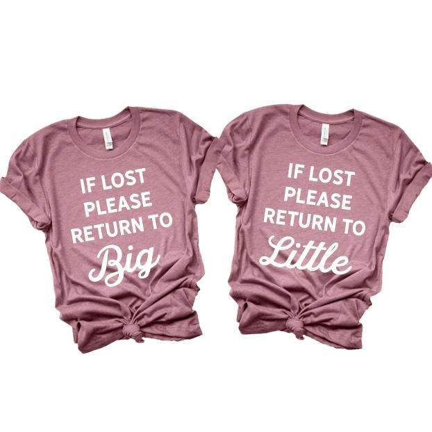 If Lost Please Return to Big / Little Sorority Shirts #biglittlereveal