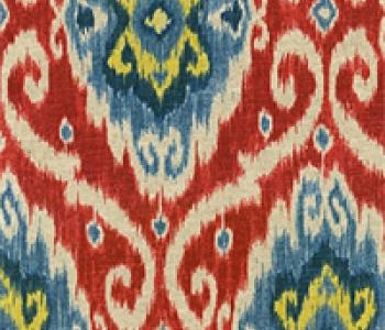 Ubud Gem Ikat Print Drapery Fabric