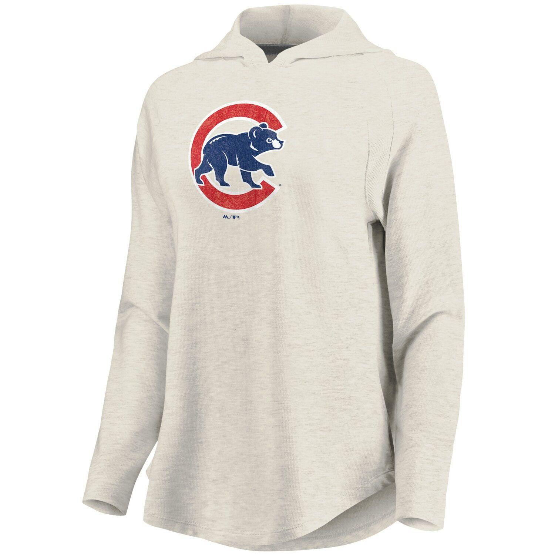 Women S Fanatics Branded Cream Chicago Cubs Game Lead Pullover Hoodie Hoodie Outfit Men Hoodies Womens Led Hoodie [ 1500 x 1500 Pixel ]