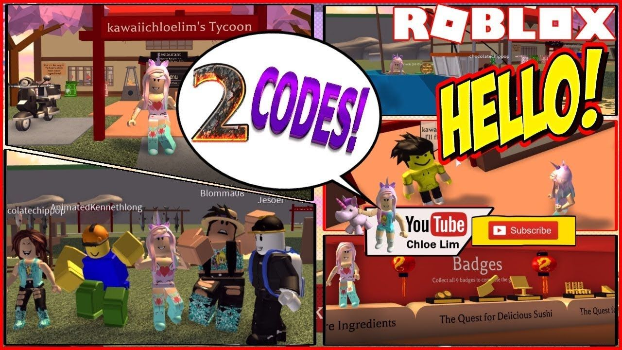 Roblox Sushi Tycoon! 2 Codes! Making and Serving Sushi in my