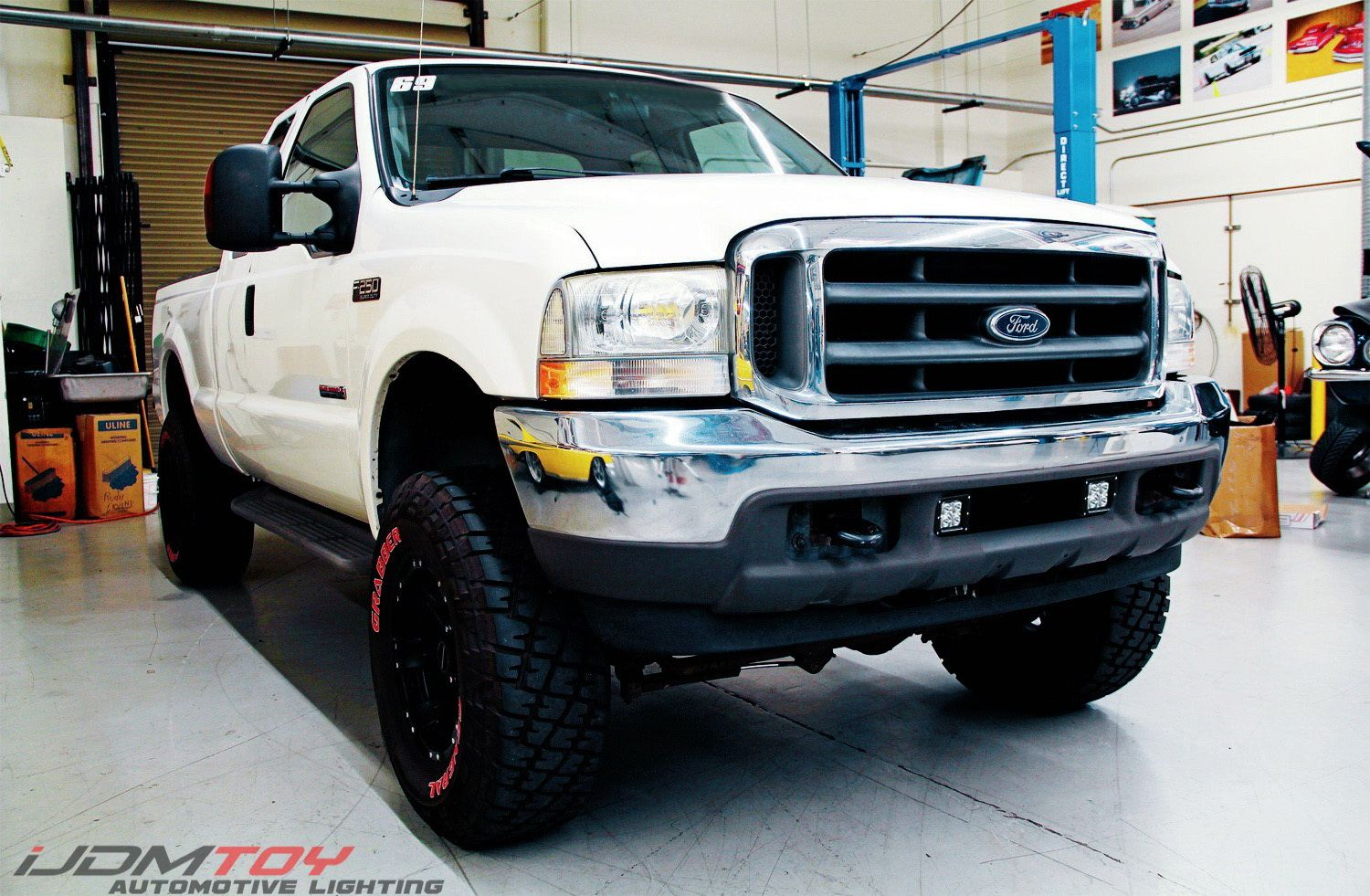 Led Pod Light Fog Lamp Kit For 1999 04 Ford F250 F350 F450 2 20w Cree Led Cubes Lower Bumper Fog Location Mounting Brackets Switch Wiring F250 Ford F250 Super Duty Trucks