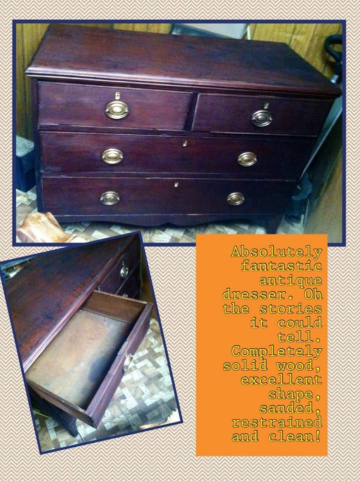 This Wonderfully Antique Dresser Was About To Be Thrown Out Left