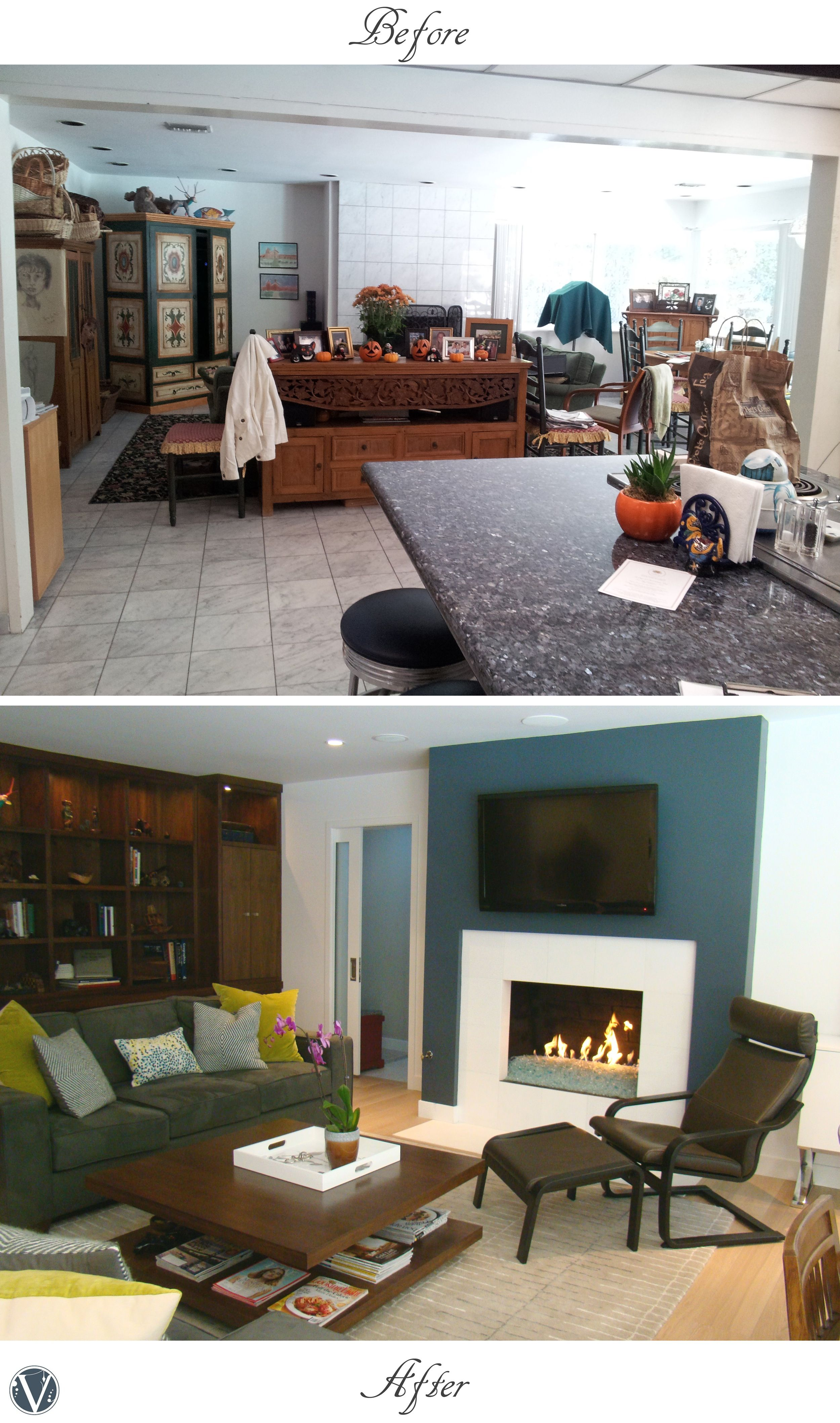 Living Room Renovation Before And After modern living room renovation. before and after. | virginia b