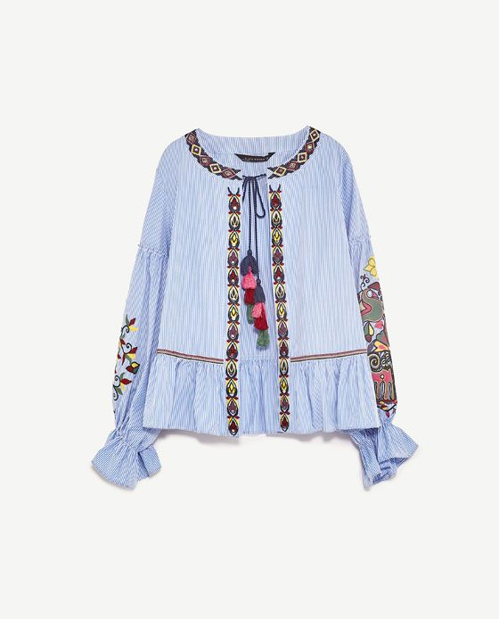 68ec57bf Image 8 of EMBROIDERED JACKET from Zara | sophisticated ...