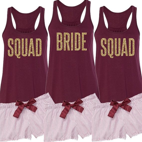 Wedding Party Gift Ideas For Bridesmaids: Matching Pajama Set For Getting