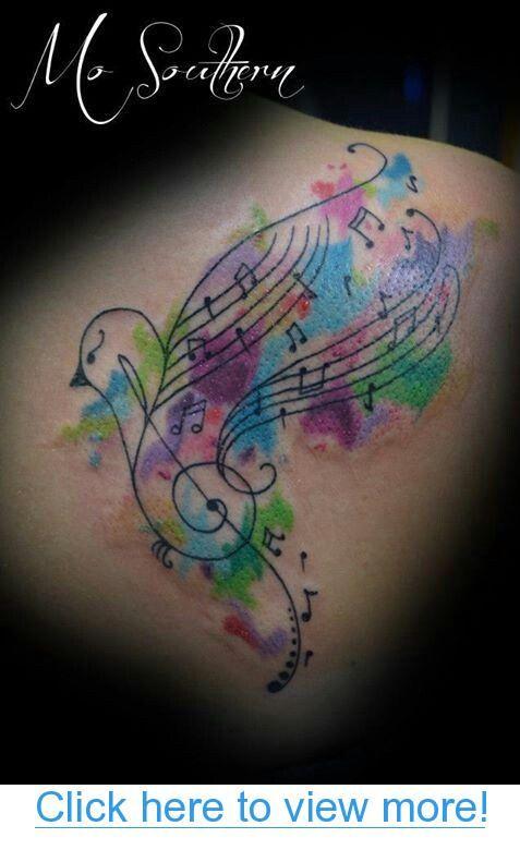 Tatuajes Partituras Musicales watercolor music tattoo   tats   pinterest   tatuajes, musica and