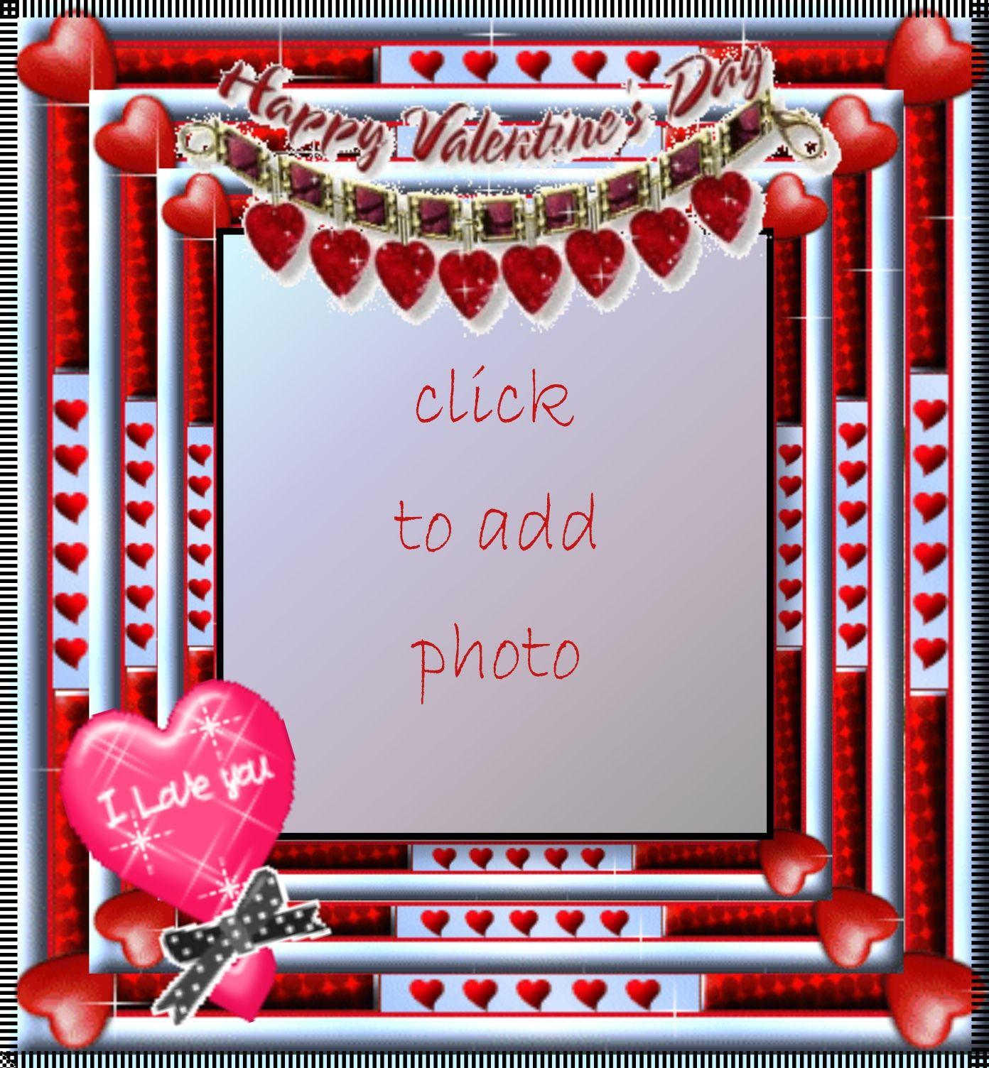 Happy Valentines Day Love Frame Valentines Day I Love U Frame