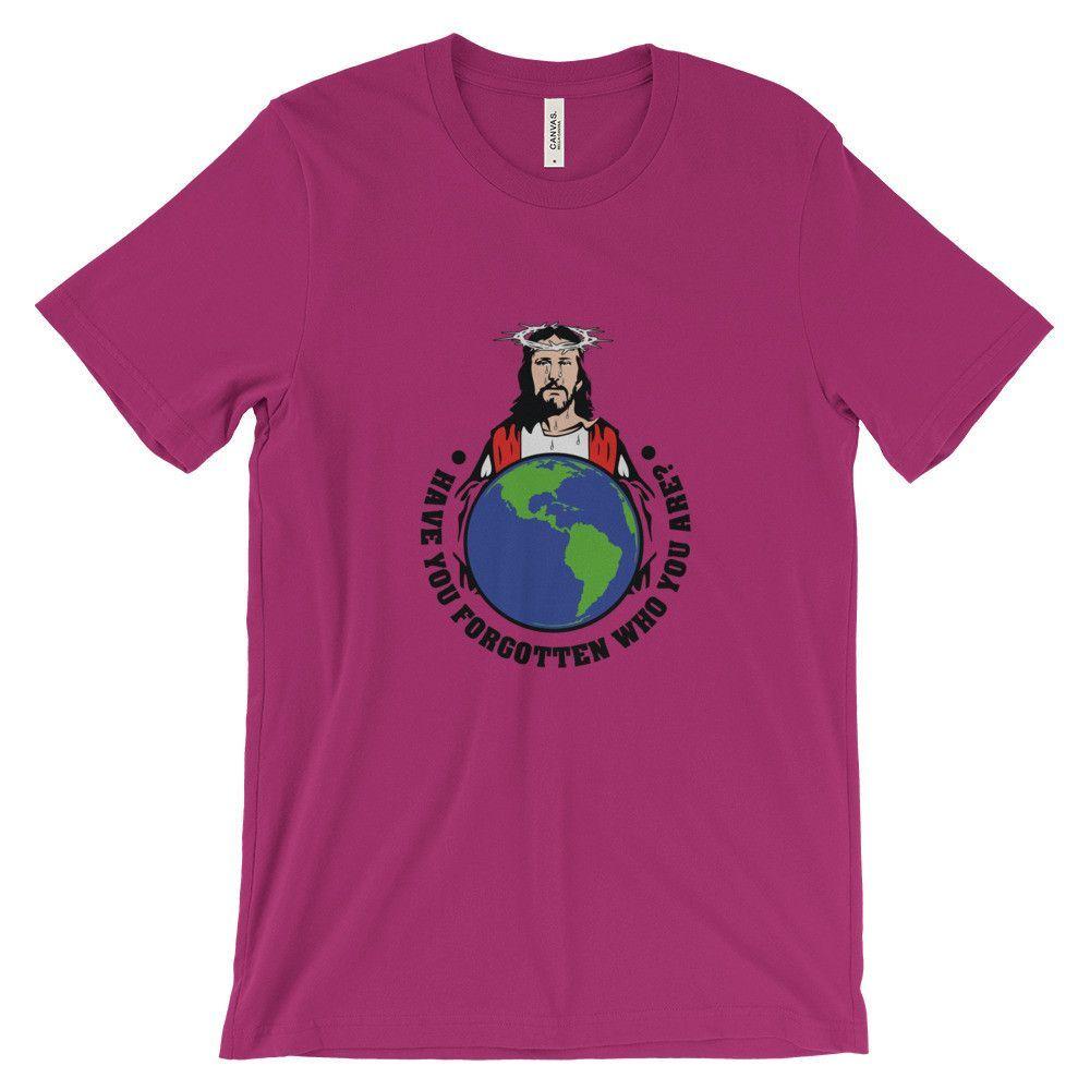 JESUS Holds Earth Unisex short sleeve t-shirt