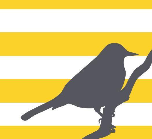 Grey and Yellow Wall Art Bird Silhouette on Bold by breedingfancy ...