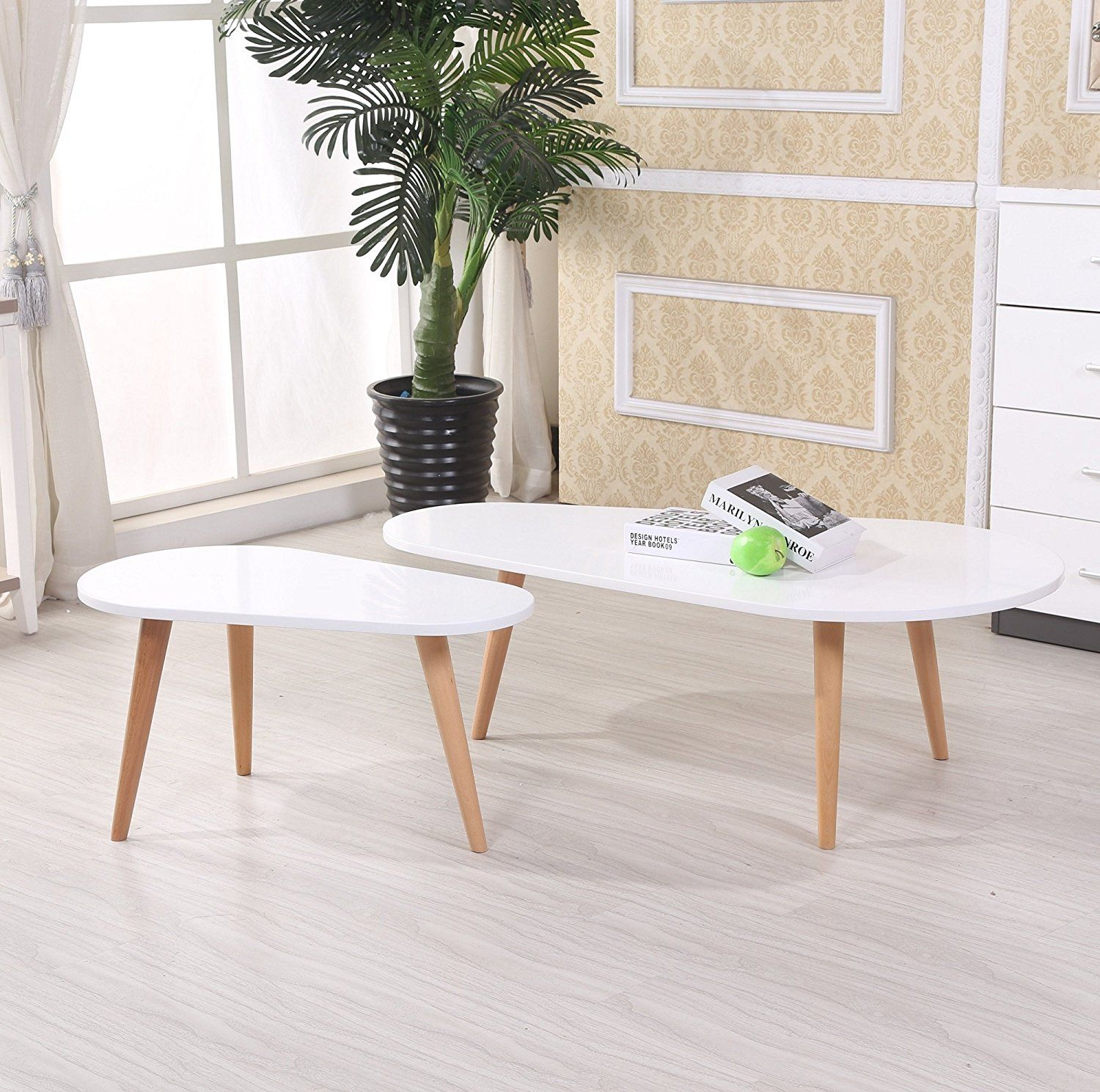 130 Us Pride Furniture Ct 238 Wh 2 Piece Wood Coffee Table Set White Home Amp Kitchen Mid Century Style Coffee Table Coffee Table Coffee Table Wood [ 1489 x 1500 Pixel ]