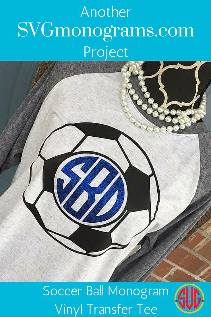 Soccer Ball Monogram Vinyl Transfer Tee Ideas Pinterest Circuit Board Wall Clock By Monogramit Shirts Mom Shirt Softball