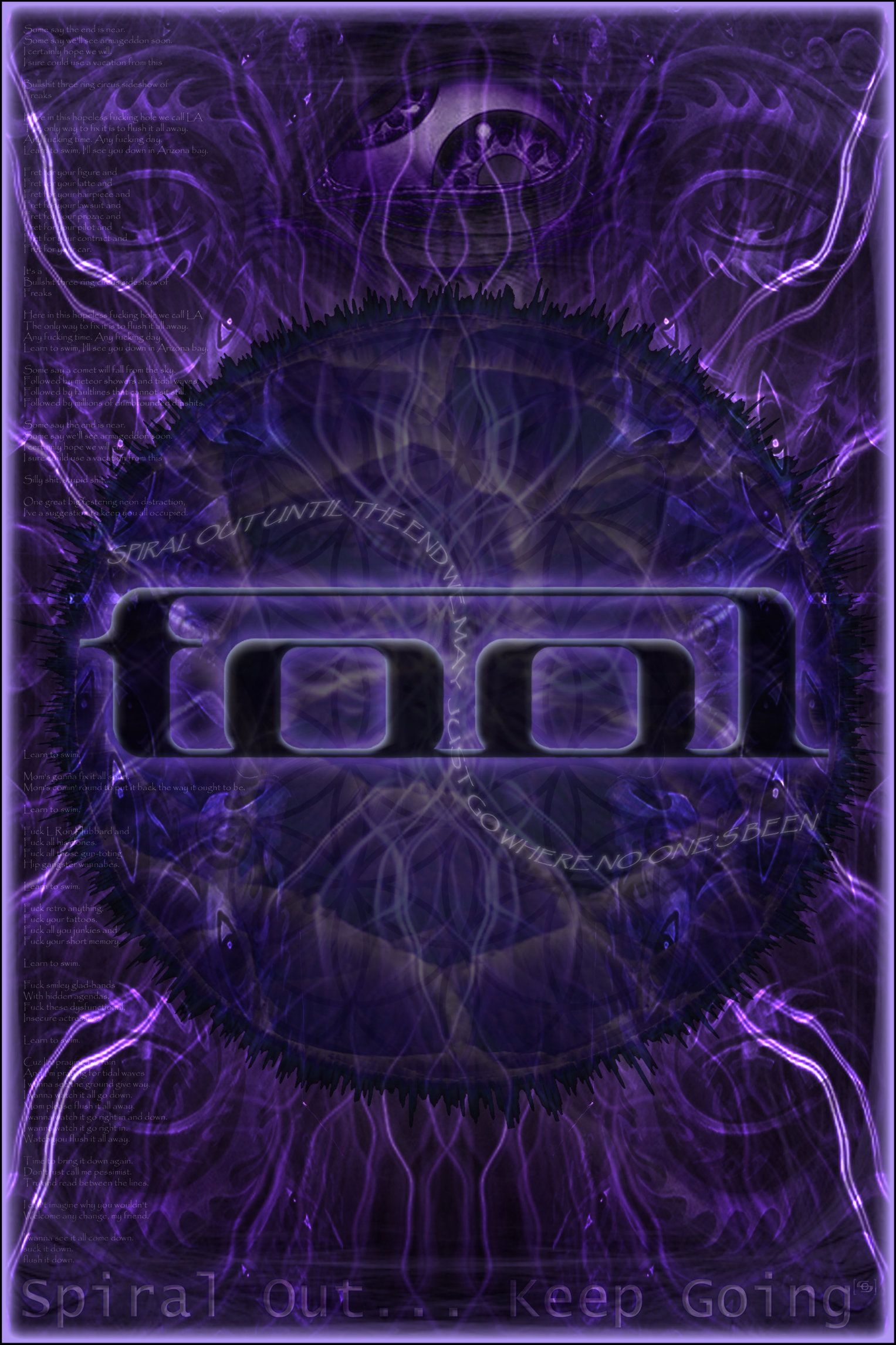 This Is A Tool Poster I Made I Tried To Incorporate Loads Of Things Reflected In Their Music The Famous Rolling Eye T Tool Band Artwork Tool Music Tool Band