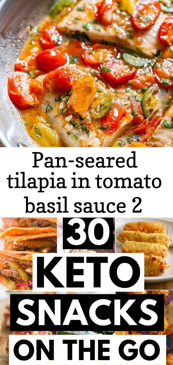 Pan-seared tilapia in tomato basil sauce 2 #cilantrolimeslaw