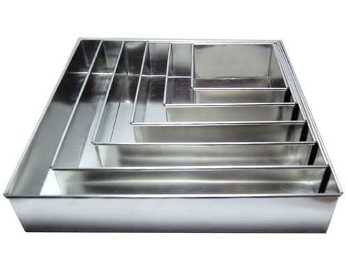 1 X 6 Tier Square Multilayer Wedding birthday Anniversary Cake Baking Tins  Cake Pans  Cake Tins * Learn more by visiting the image link.
