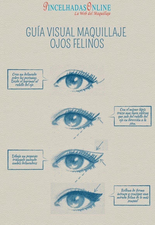 Como hacer un maquillaje de ojos tipo felinoSensuales y atrevidos