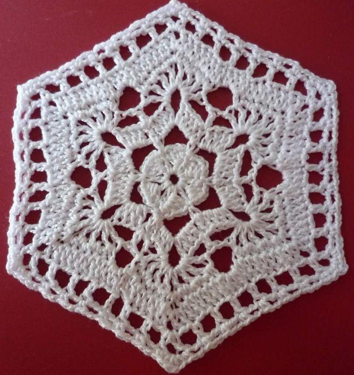 Zeshoek Granny Square Crochet Craft Ideas Pinterest