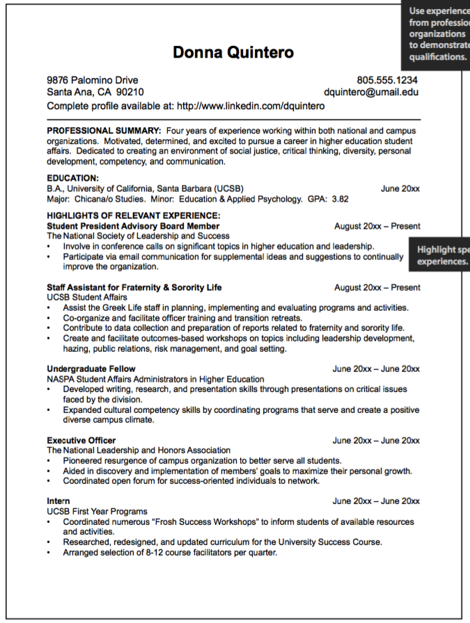 Example Fraternity Resumes Examples Resume Cv Higher Education Student Affairs Student University Student