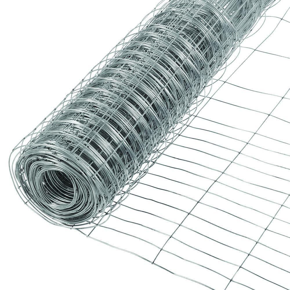 HDX 2-33/100 ft. x 50 ft. Garden Welded Wire Fence | Welded wire ...