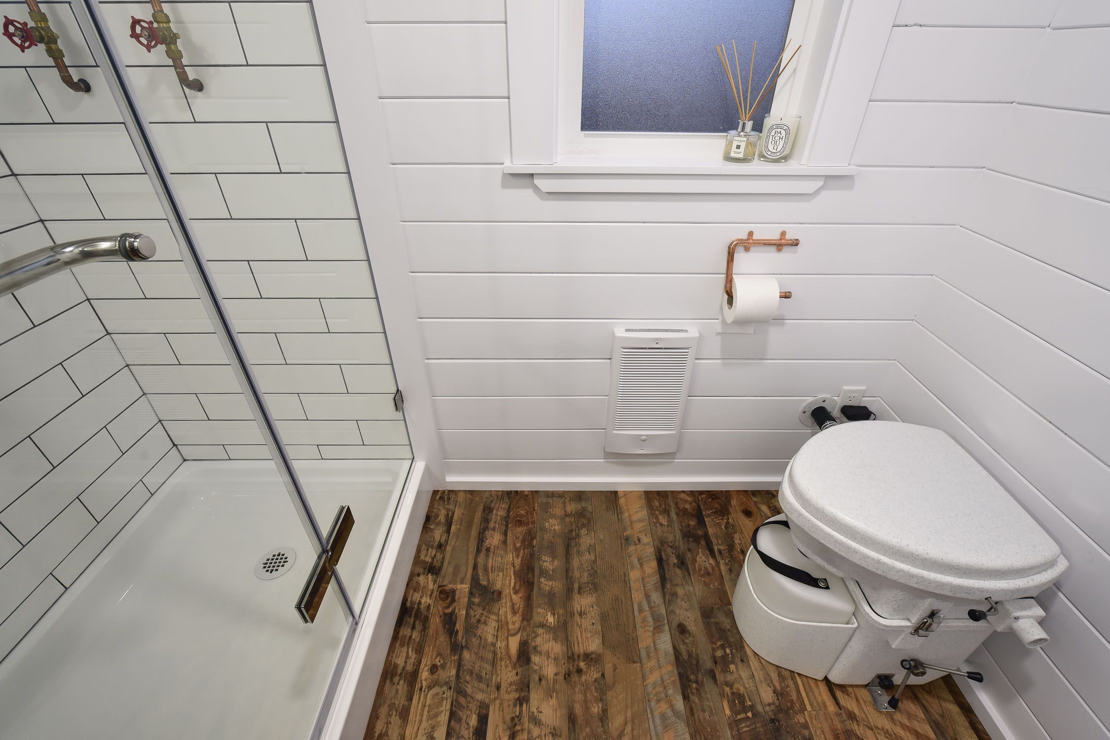 Nature S Head Decomposing Toilet In Spacious Tiny House