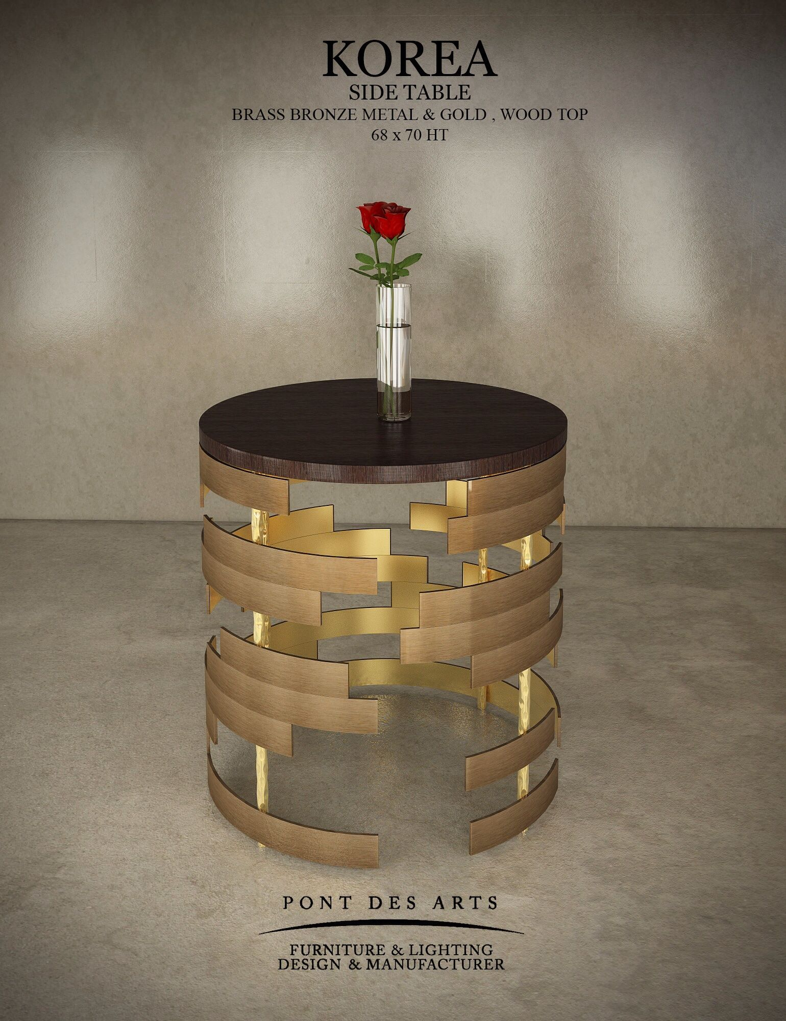 Korea Side Table Pont Des Arts Design Monzer Hammoud Paris  # Modele Des Tables Pour Television Plasma En Fer Forge