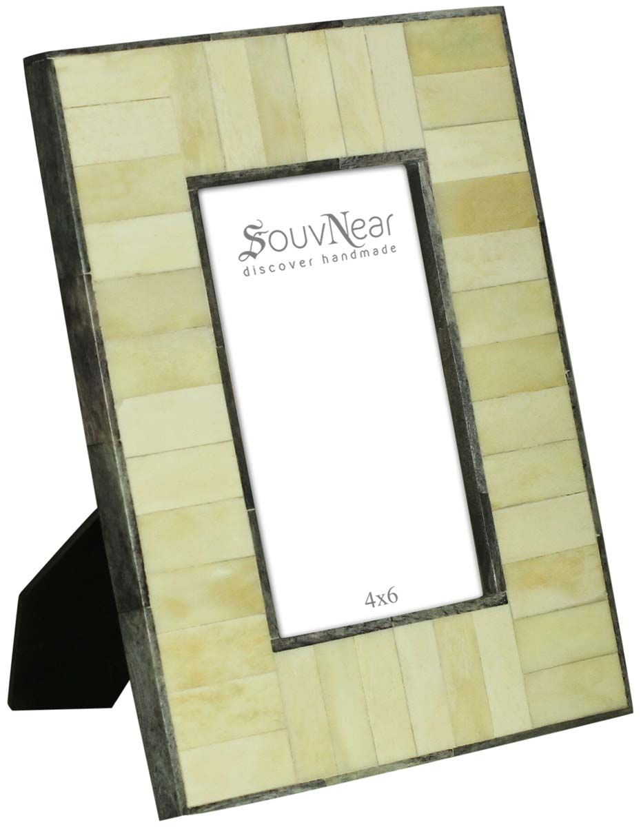 Bulk Wholesale Off-White Photo-Frame in Compressed-Wood & Bone Inlay ...