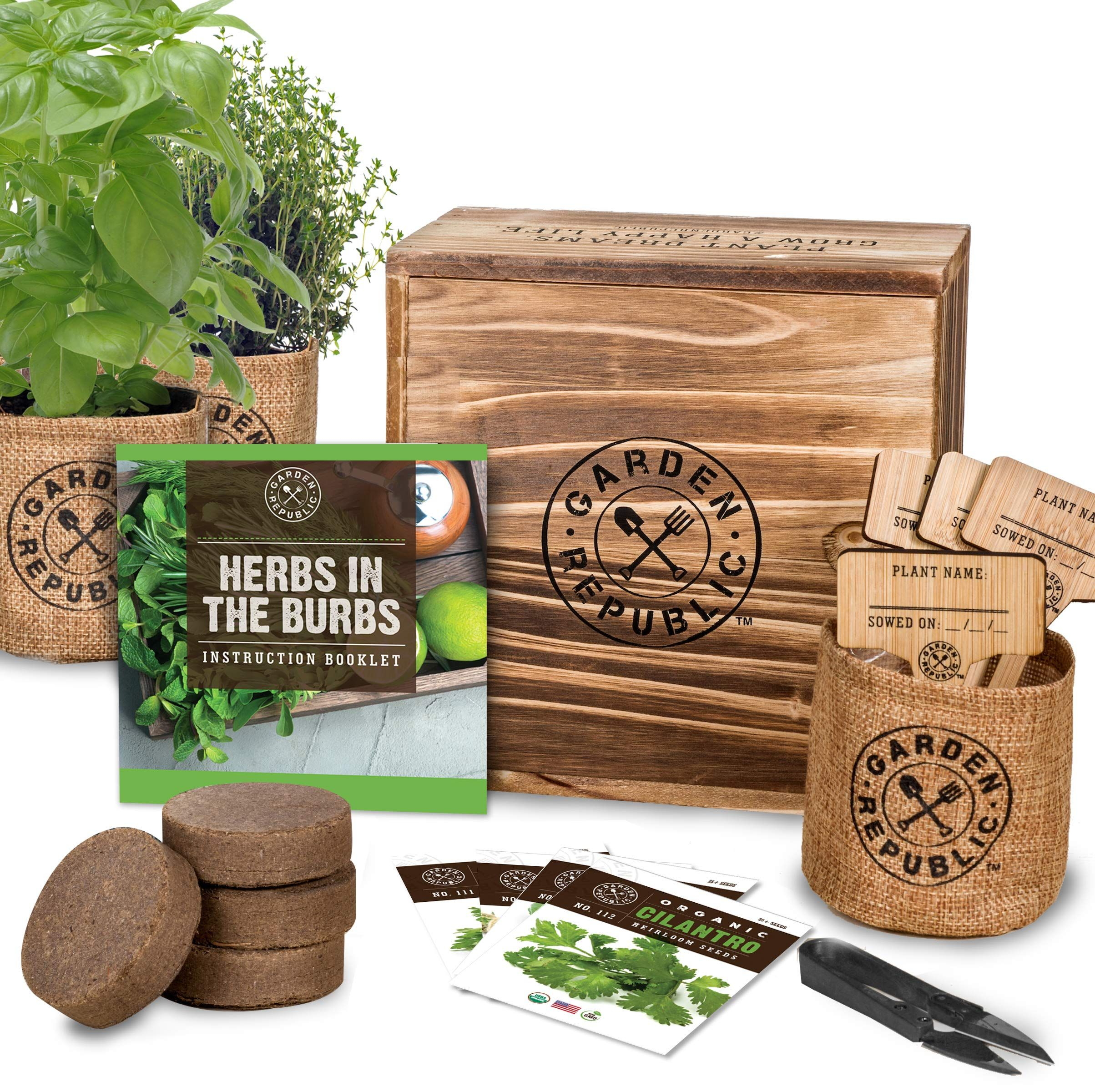 Indoor Herb Garden Starter Kit Organic Click Image To Review