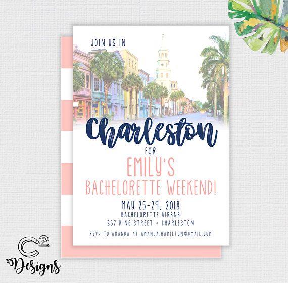 charleston bachelorette party invitation itinerary in 2018